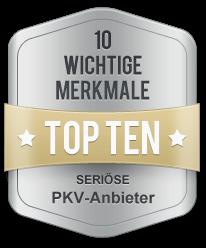 PKV Anbieter Top Ten