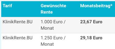 Swiss Life BU Beispiel Beamte